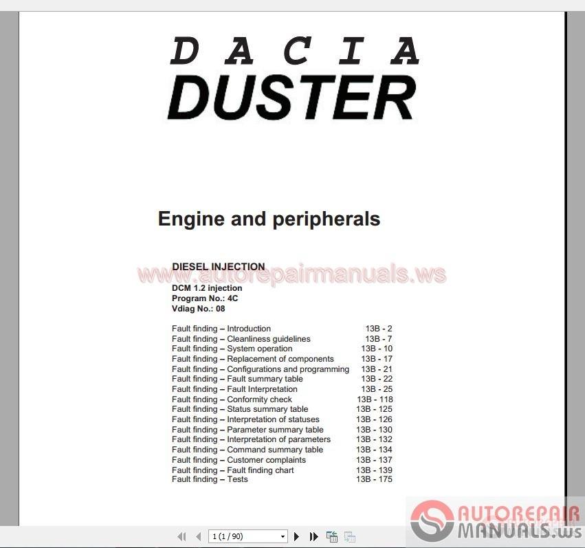 duster dcm 1 2 full system workshop manual part 1 auto repair manual forum heavy equipment Seat Ibiza Paint Seat Ibiza Engine