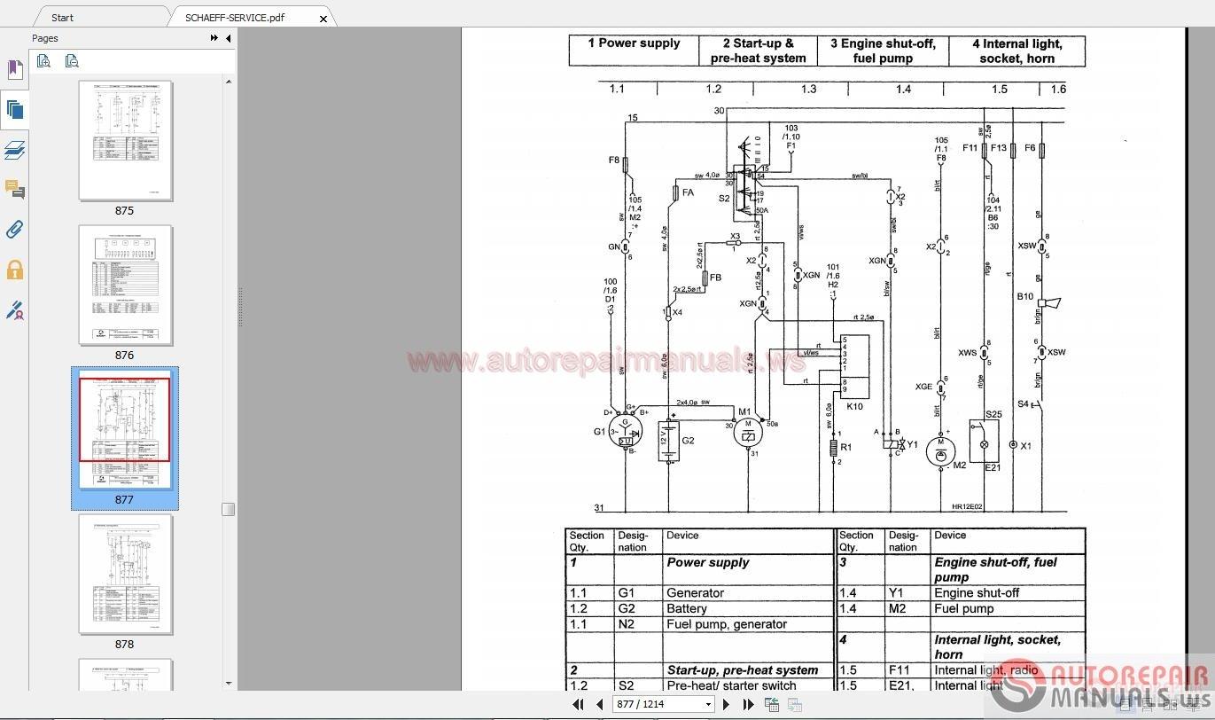 Terex Excavators And Wheel Loaders Service Manual Cd Hr