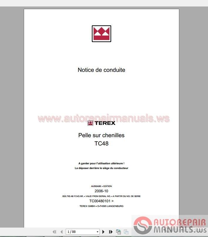 heavy equipment repair manuals pdf