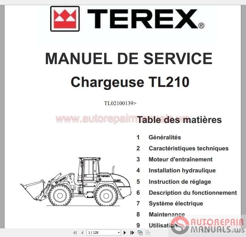 Terex Tl210 Wheel Loader Service Manual Es