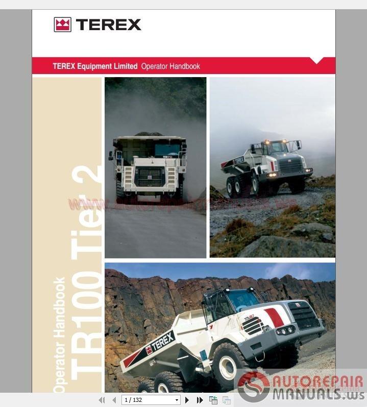 terex tr100 t883 operator manual auto repair manual. Black Bedroom Furniture Sets. Home Design Ideas