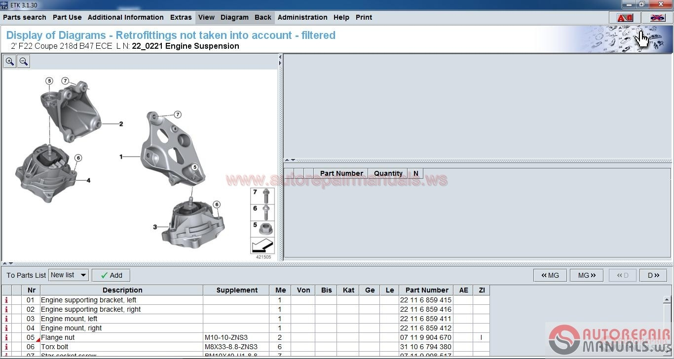 Bmw Etk Spare Parts Catalog 11 2016 Full Instruction