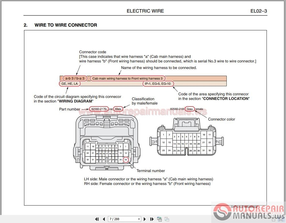 Hino E13c Engine Electrical Circuits