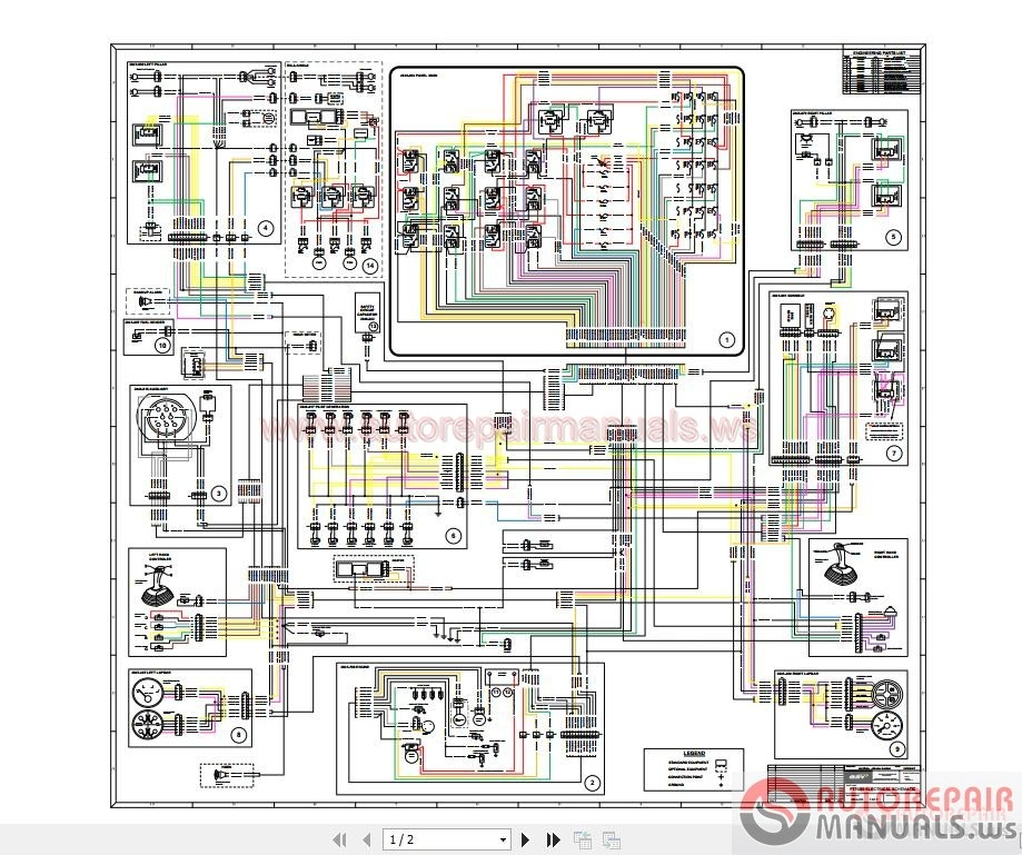 Terex Pt70  80 Combined Electrical Schematic
