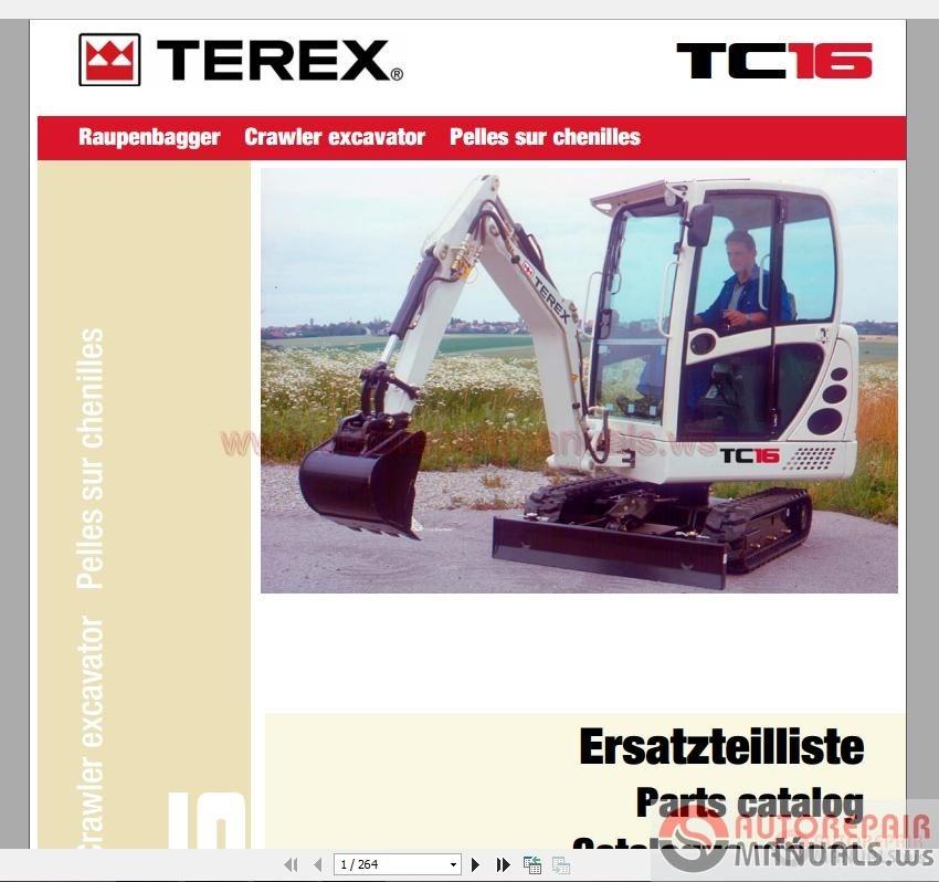 terex mini crawler excavators tc16 0885 parts catalog. Black Bedroom Furniture Sets. Home Design Ideas