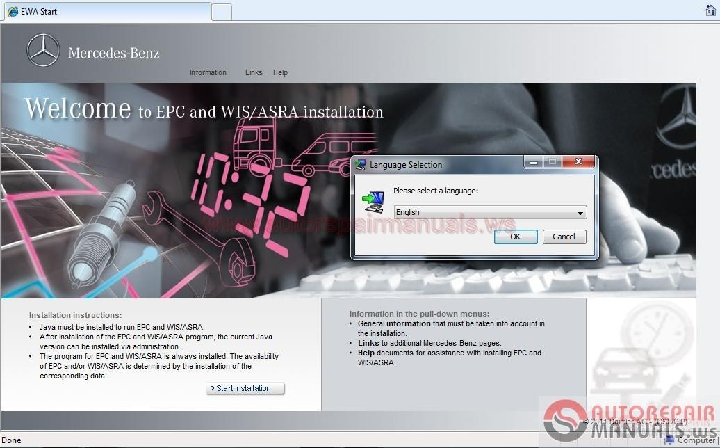Mercedes benz wis asra net full instruction for Mercedes benz repair forum
