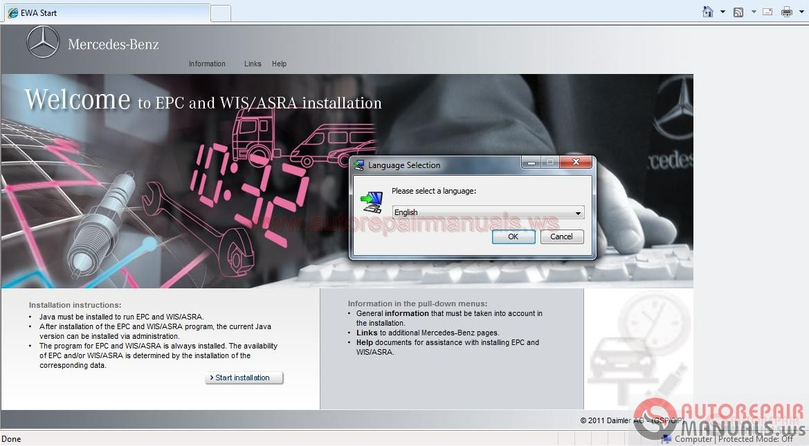 Mercedes benz epc full instruction kg auto for Mercedes benz b1 service