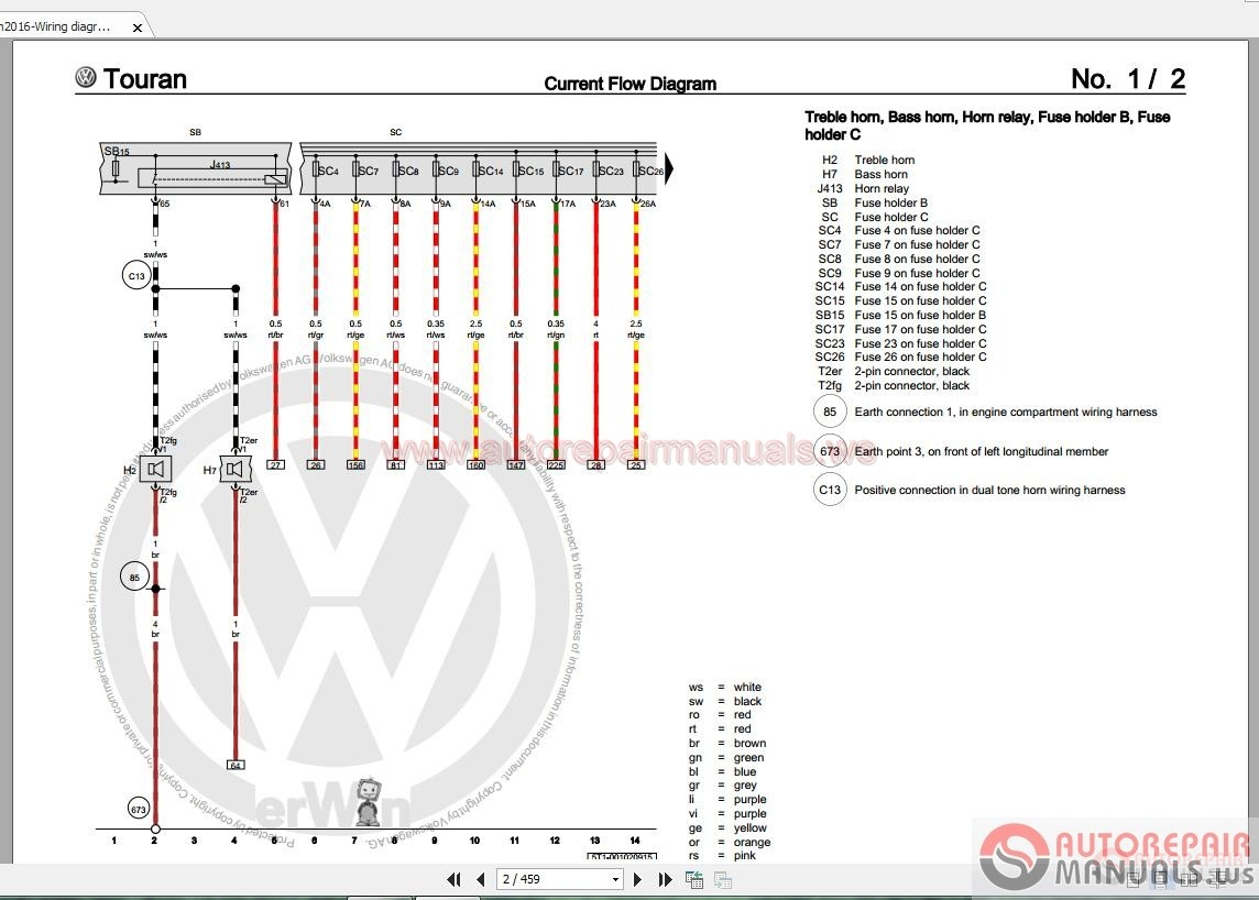 volkswagen touran wiring diagram volkswagen touran 2016 workshop manuals | auto repair ...