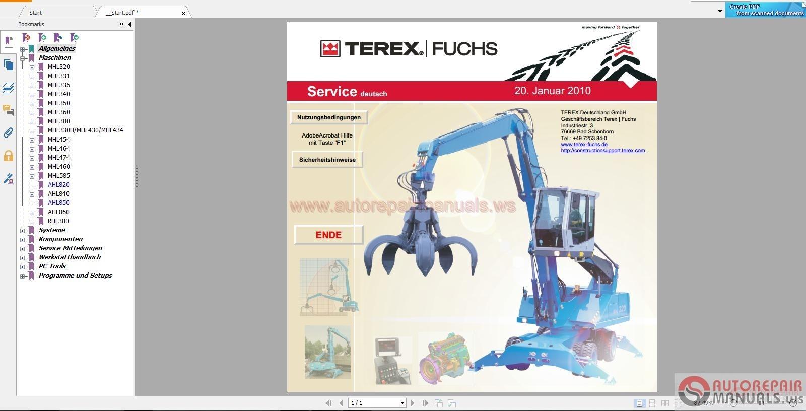 Terex Crane Parts Catalog