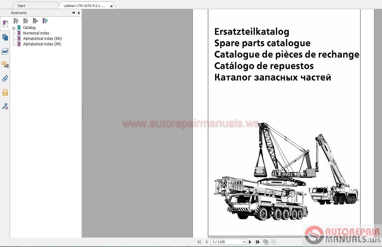 Liebherr Mobile Crane Spare Parts : Liebherr ltm spare part list auto repair