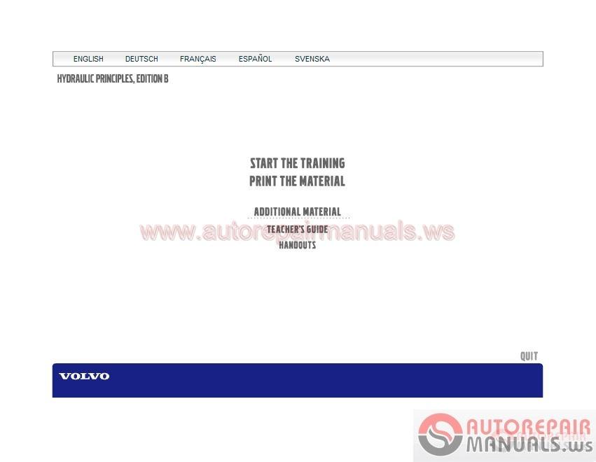 Volvo Training Course] Basic of Hydraulic | Auto Repair