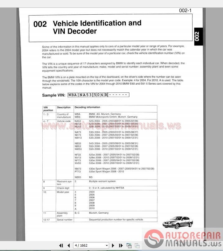 bmw 5 series e60 e61 2003 2010 service repair manual auto repair rh autorepairmanuals ws bmw e60 repair manual free download bmw e60 repair manual pdf
