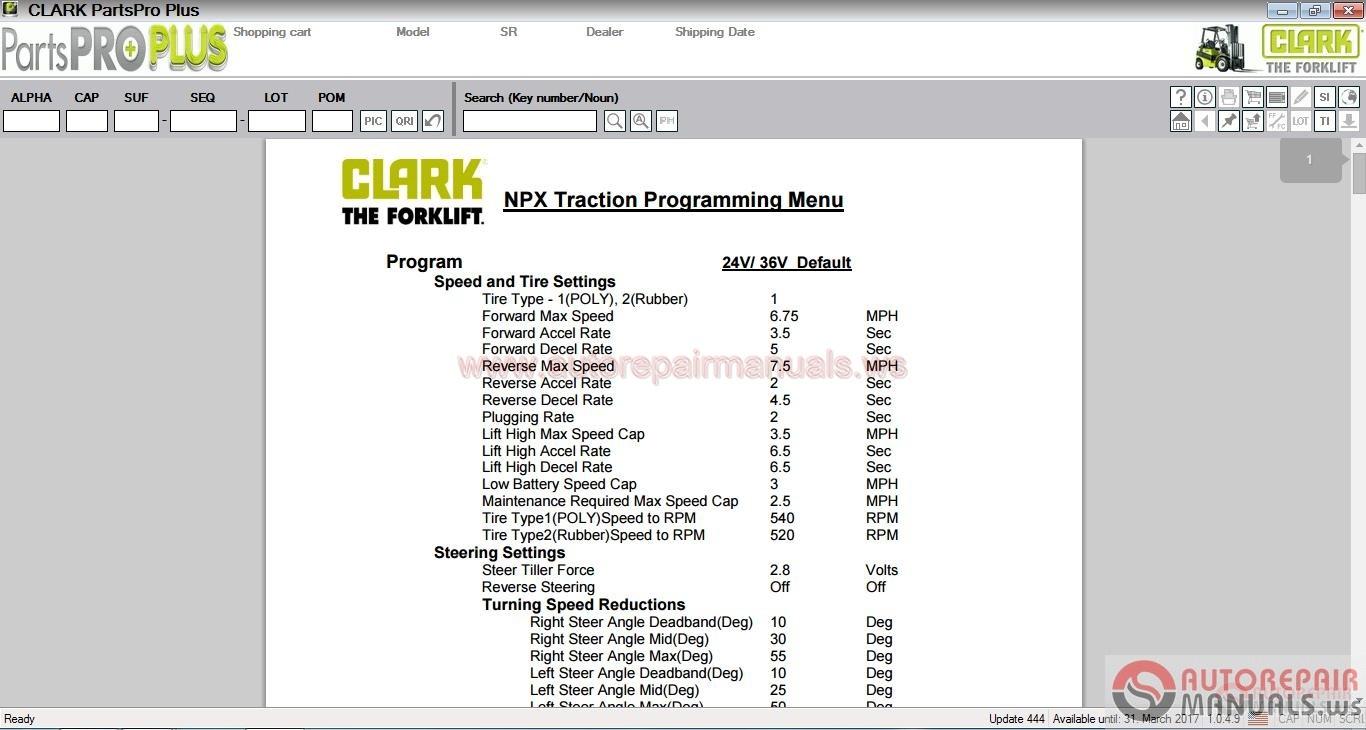 Clark Forklift Parts Pro Plus V444 032017 Full Instruction Toyota Hydraulic Diagram Img