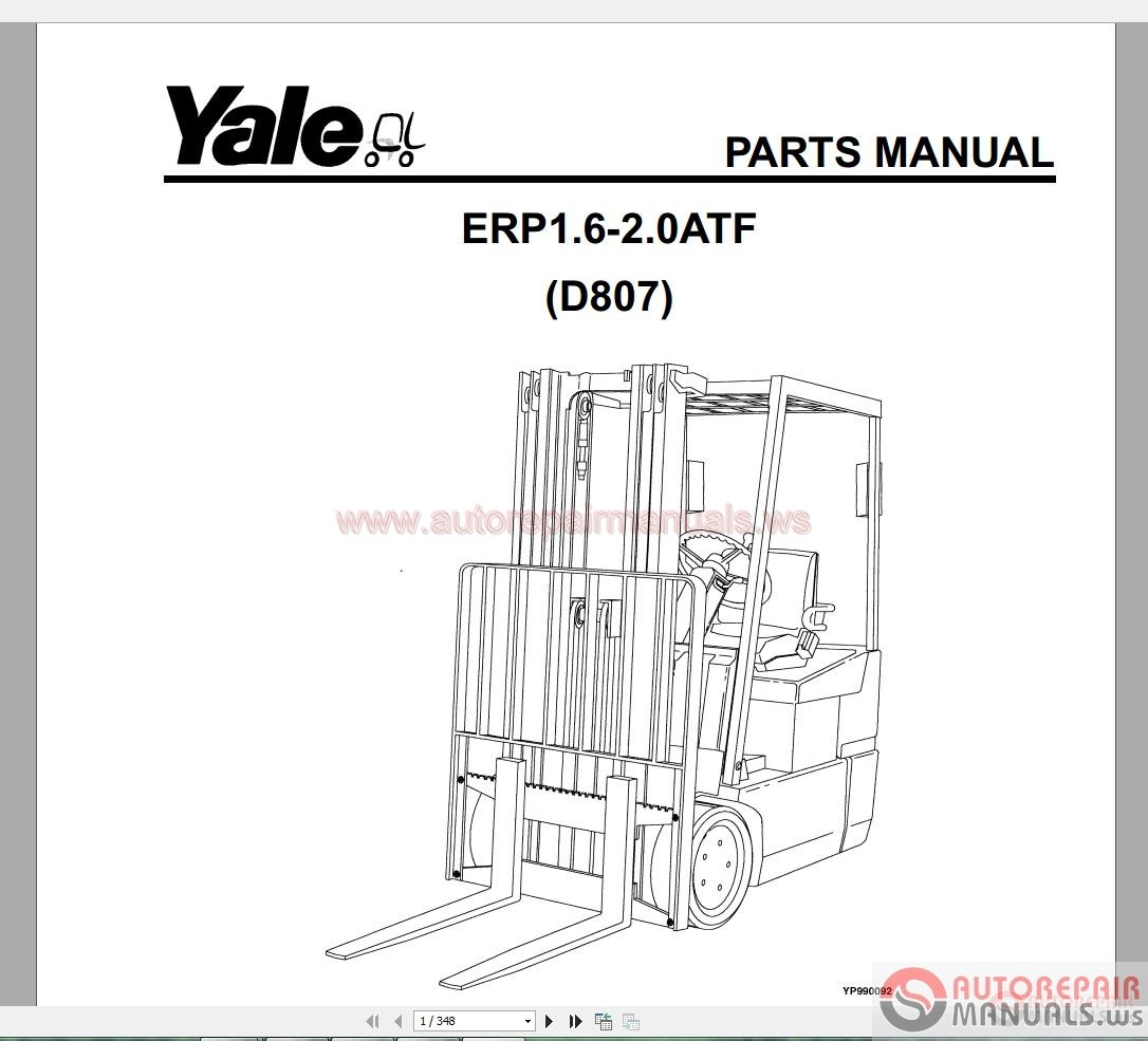 yale forklift spare parts pdf full set
