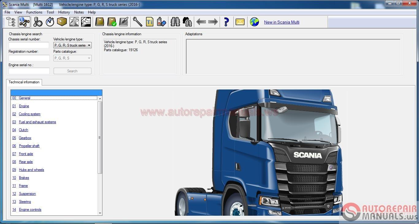 Scania Multi 12 2016 Full Instruction Auto Repair