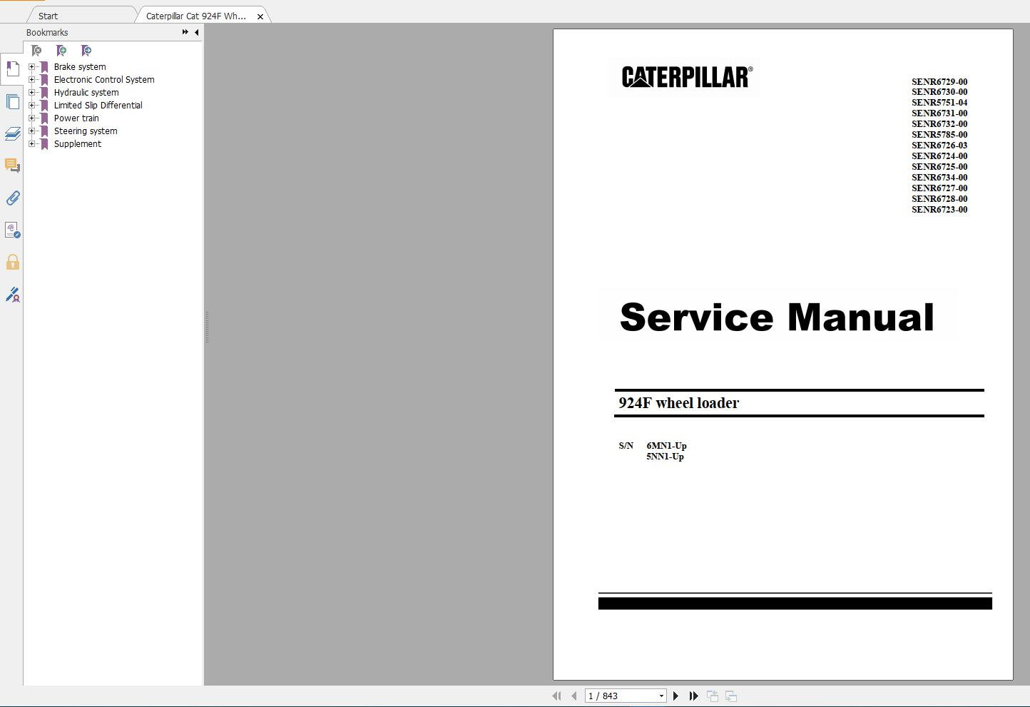 Caterpillar Cat 924f Wheel Loader Service Manual Auto Repair Manual Forum Heavy Equipment Forums Download Repair Workshop Manual