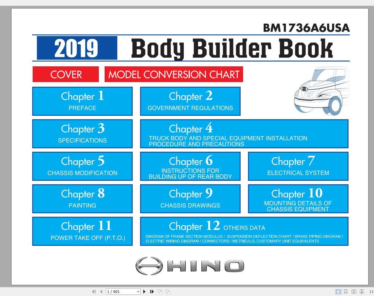 Hino Truck Workshop Manuals 2019 Cd