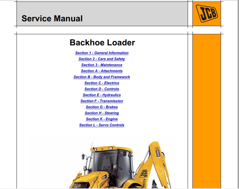 JCB Backhoe Loader C, 3CX, 4CX Service Manual | Auto Repair