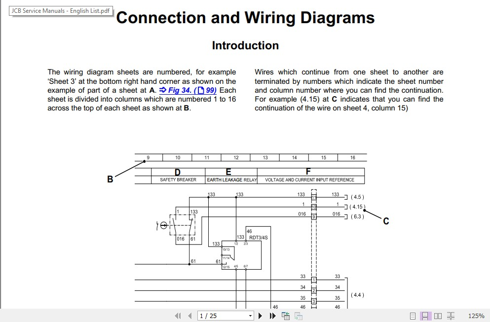 Jcb Mobile Platform G144qx  G160rx  G175qx  G200rx  G220qx Wiring Diagram