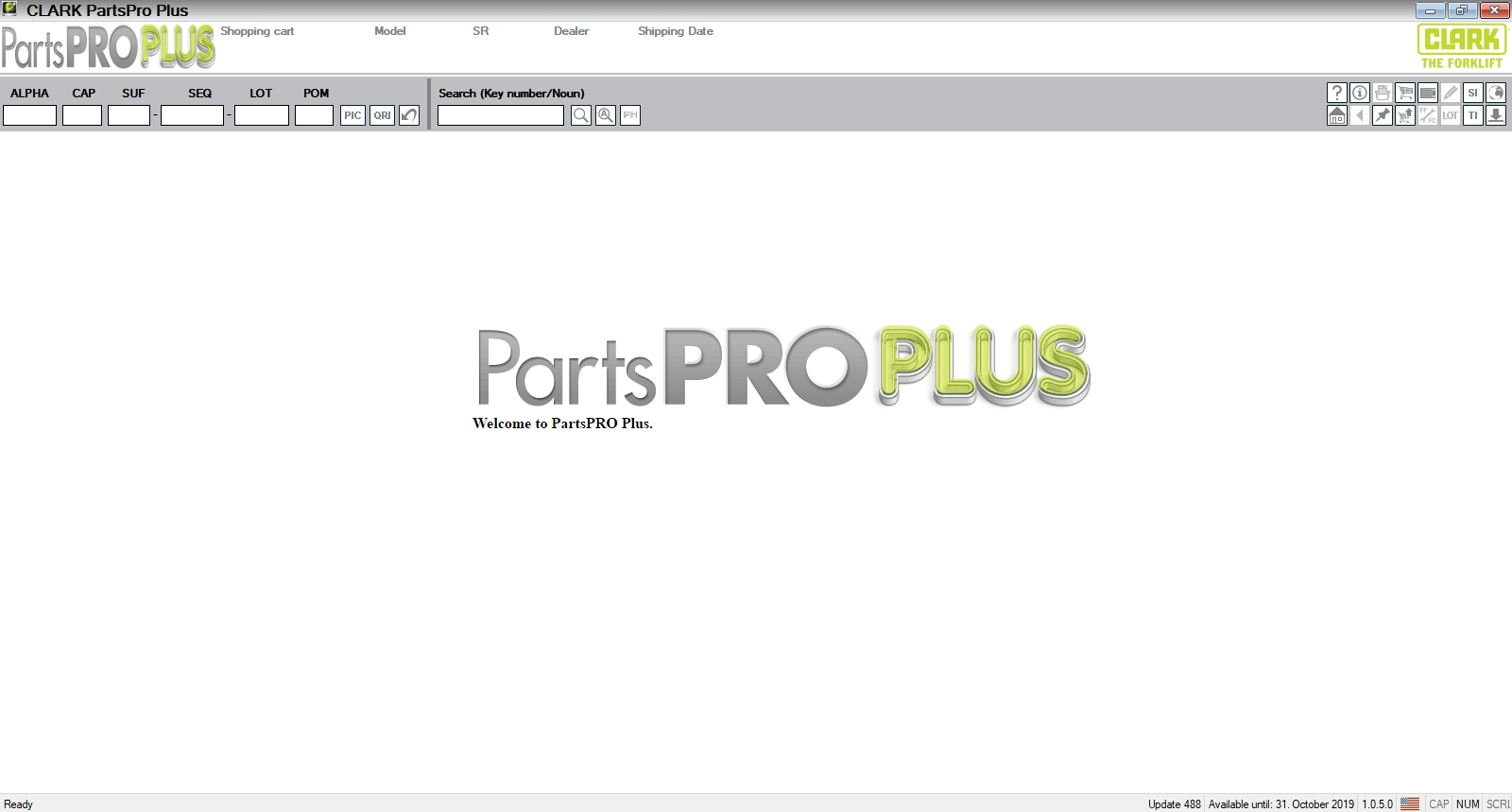 Clark Forklift Parts Pro Plus V488  07 2019