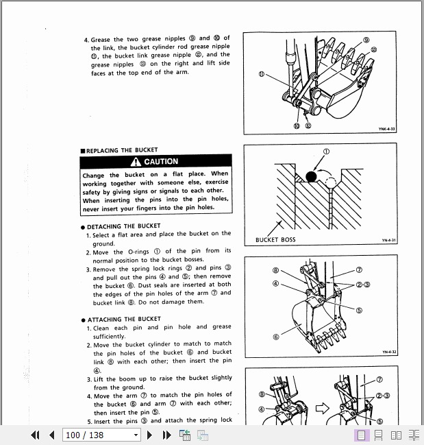 Part Number # YMUK95S0020M KOBELCO SK160LC Mark IV Excavator ...