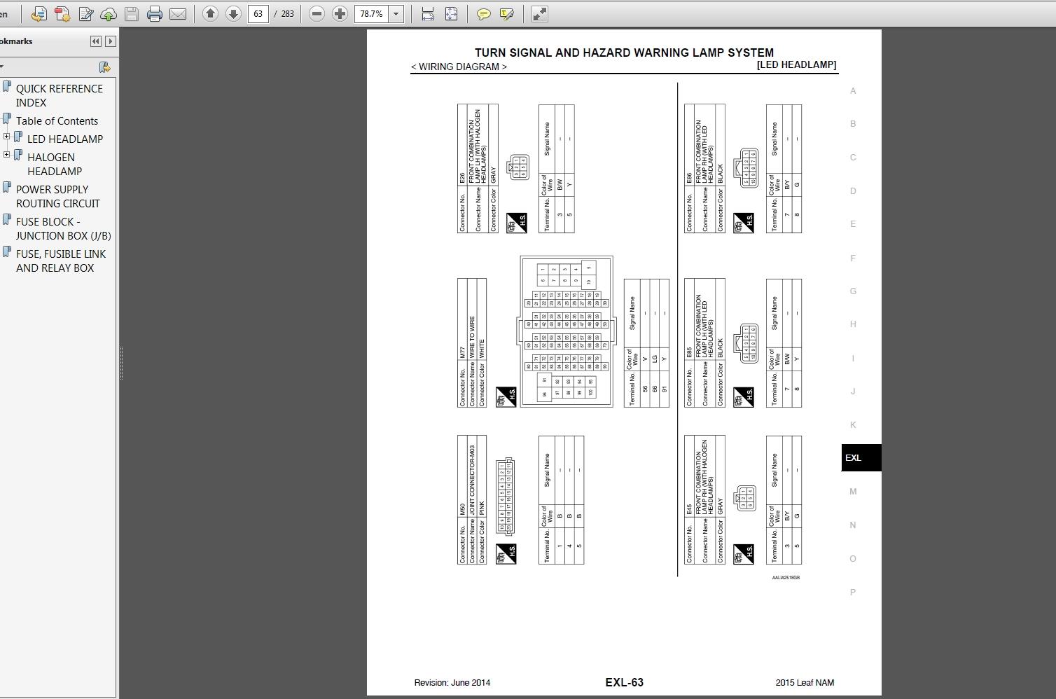 [SCHEMATICS_4HG]  NISSAN LEAF ZE0 Series SM15EA0ZE0U0 2015 Service Manual | Auto Repair Manual  Forum - Heavy Equipment Forums - Download Repair & Workshop Manual | 2015 Nissan Leaf Wiring Diagram |  | Auto Repair Manual Forum