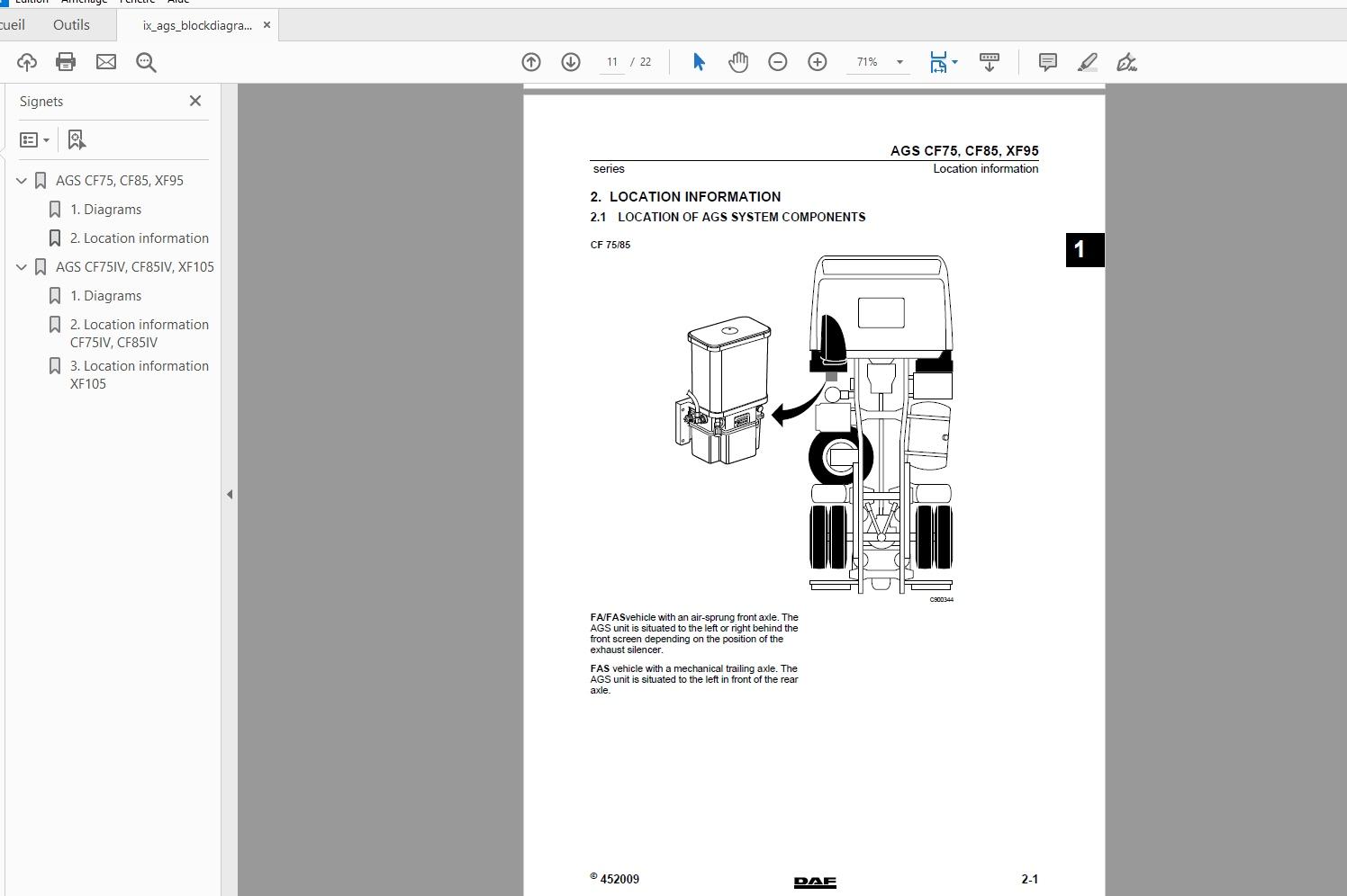 Daf Truck Series Cf Lf Xf Wiring Diagrams