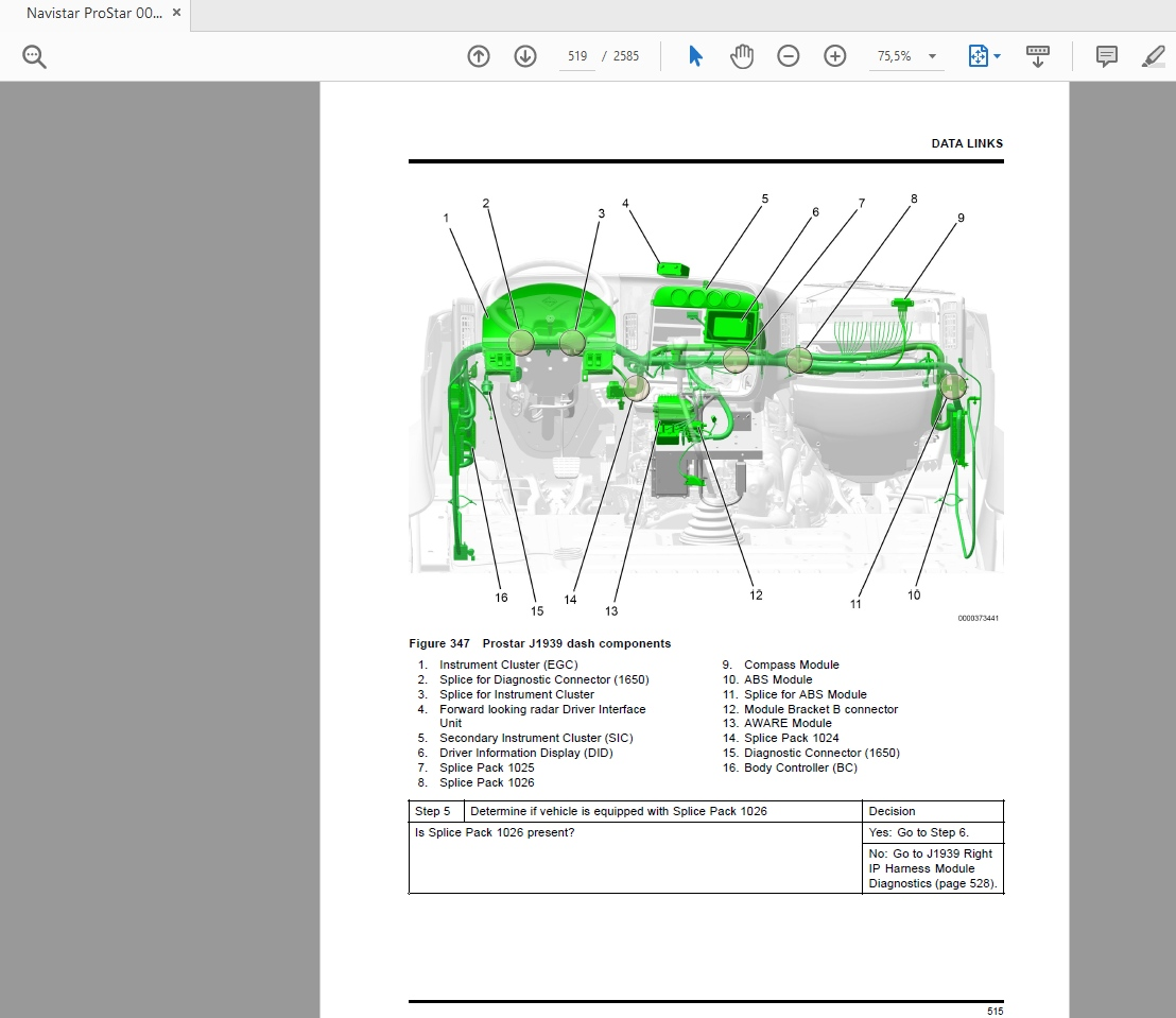 Navistar ProStar Technician Service Manual 2010 - 2016 ...
