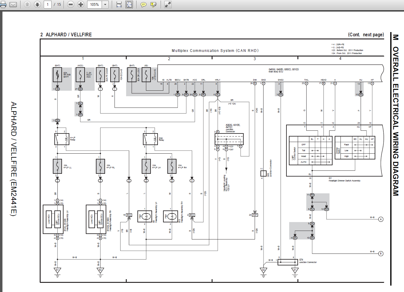 toyota vellfire wiring diagram - wiring diagrams all brown-web -  brown-web.babelweb.it  babelweb.it