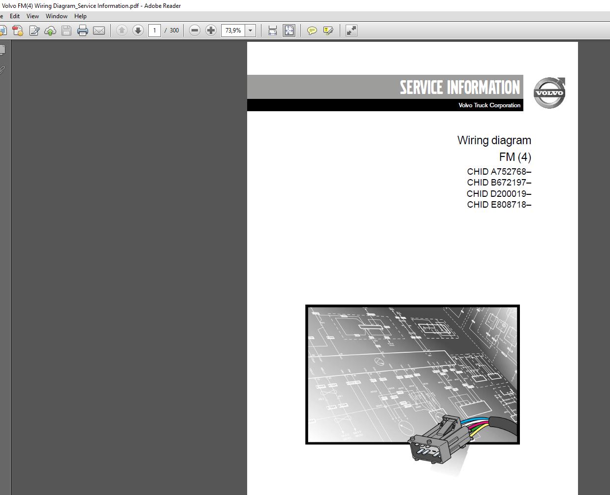Volvo Fm 4  Wiring Diagram Service Information