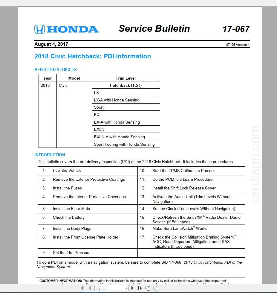 09 Civic Service Manual