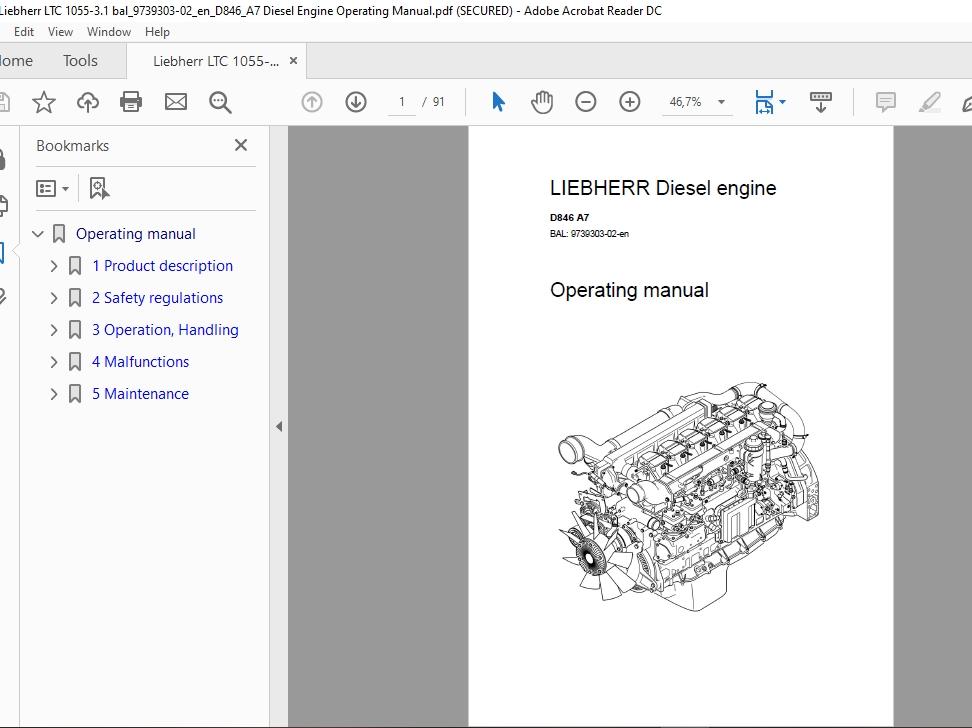 Liebherr Mobile Crane Ltc 1055-3 1 Service Manuals