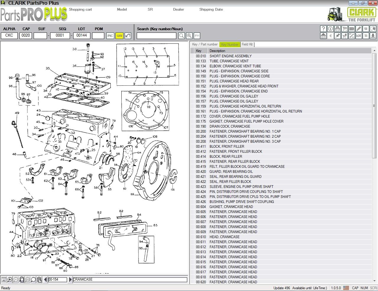 Clark Forklift Parts Pro Plus V496  01 2020