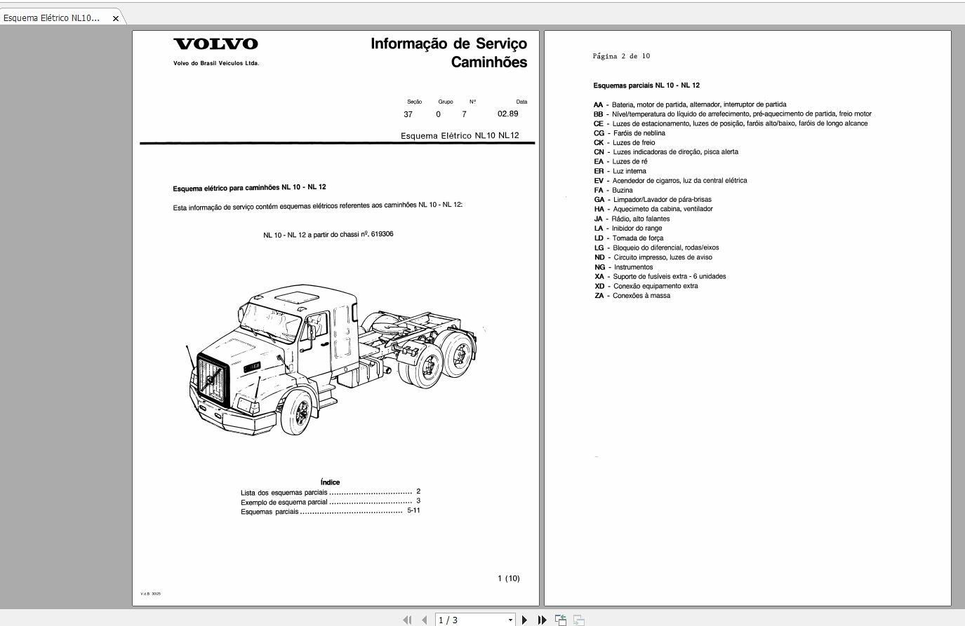 Volvo Truck Nl10  Nl12 Manuals And Diagrams
