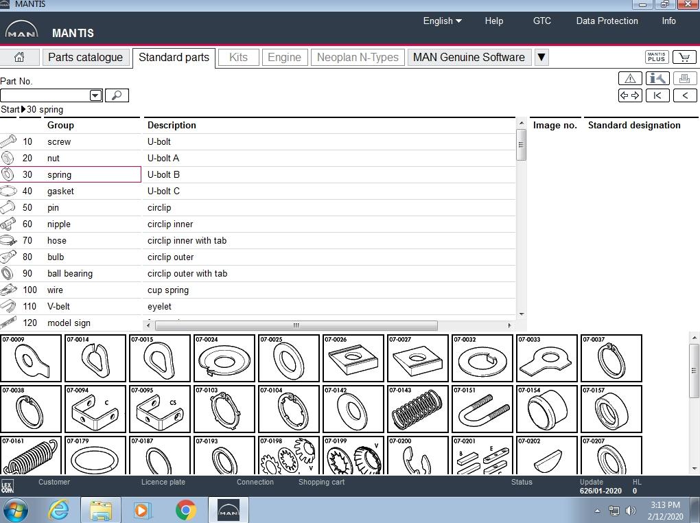 Man Mantis V626 Epc  01 2020  Parts Catalog