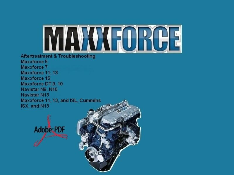 Maxxforce  Maxxforce Service Repair Manual Diesel Engines