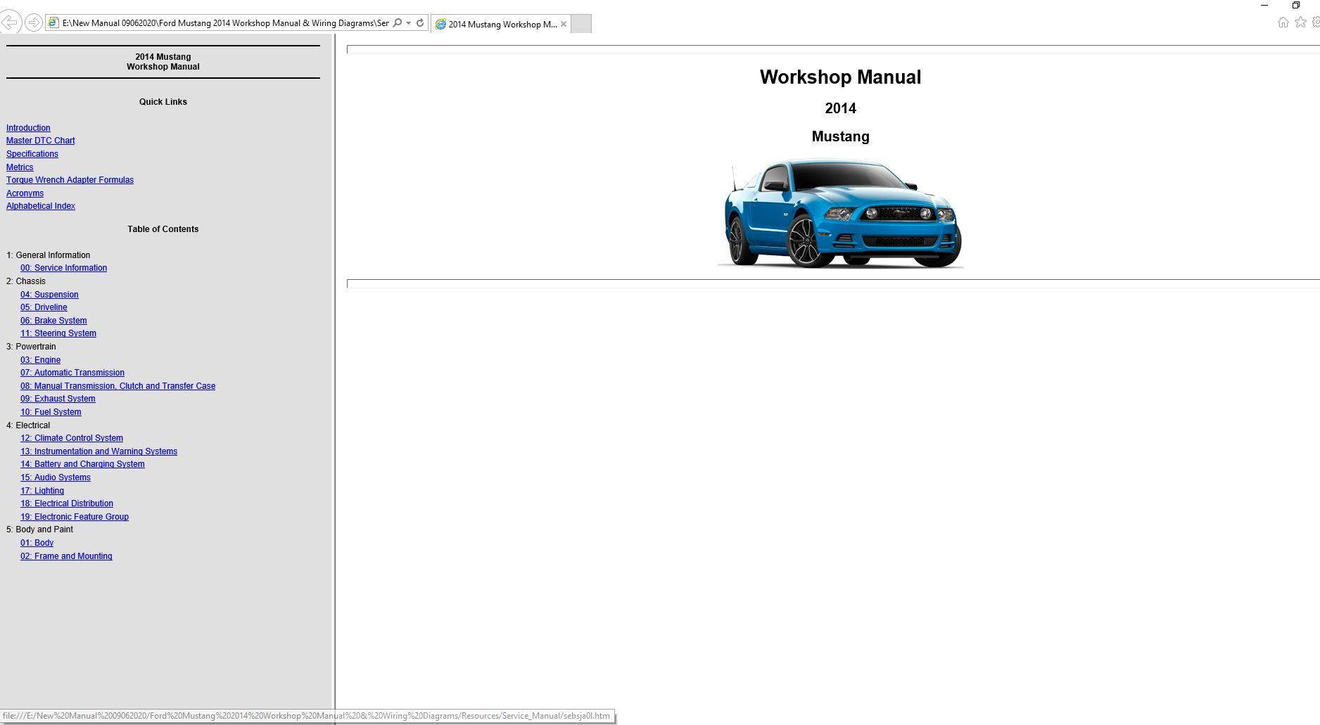 ford mustang 2014 workshop manual & wiring diagrams | auto repair manual  forum - heavy equipment forums - download repair & workshop manual  autorepairmanuals.ws