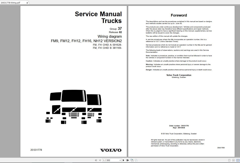 [DIAGRAM_5FD]  Volvo FM12 Trucks Service Manual Buses & Wiring Diagrams | Auto Repair  Manual Forum - Heavy Equipment Forums - Download Repair & Workshop Manual | 202 Volvo Truck Wiring Diagram |  | Auto Repair Manual Forum
