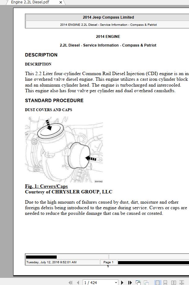 Jeep Compass & Patriot 2007-2016 Service Repair Manual ...