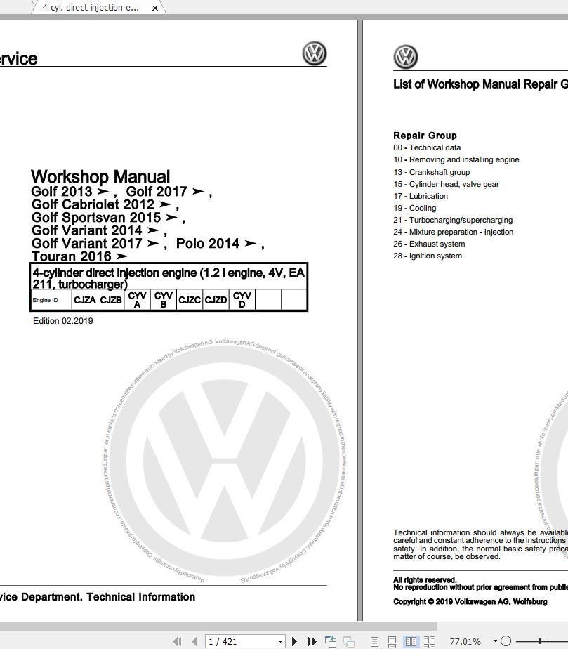 Volkswagen Touran II (5T1) 2016-2020 Workshop Manuals & Wiring Diagrams |  Auto Repair Manual Forum - Heavy Equipment Forums - Download Repair &  Workshop ManualAutorepairmanuals.ws