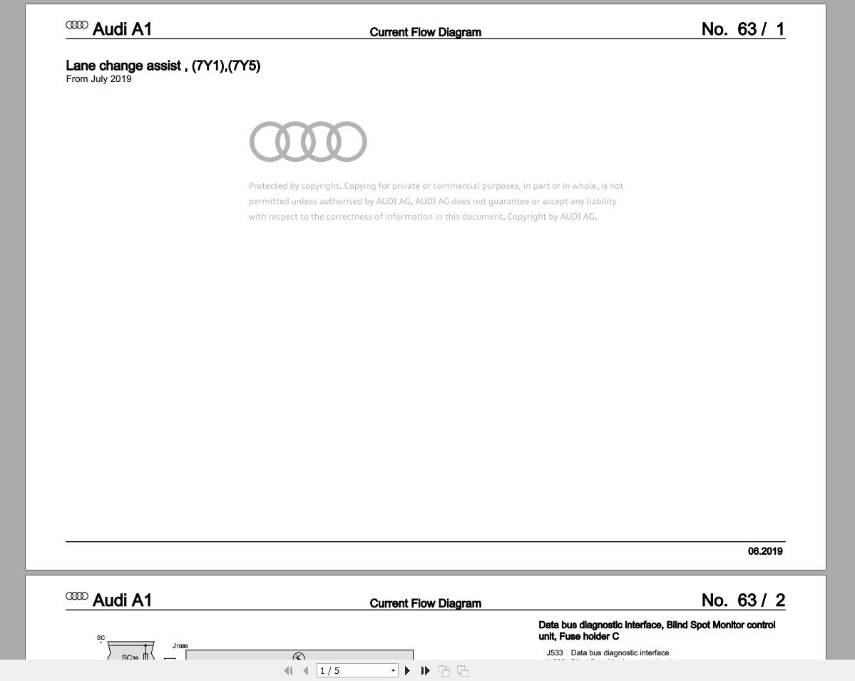 Audi 2020 6.05GB Package DVD PDF Repair Manual, Workshop ...
