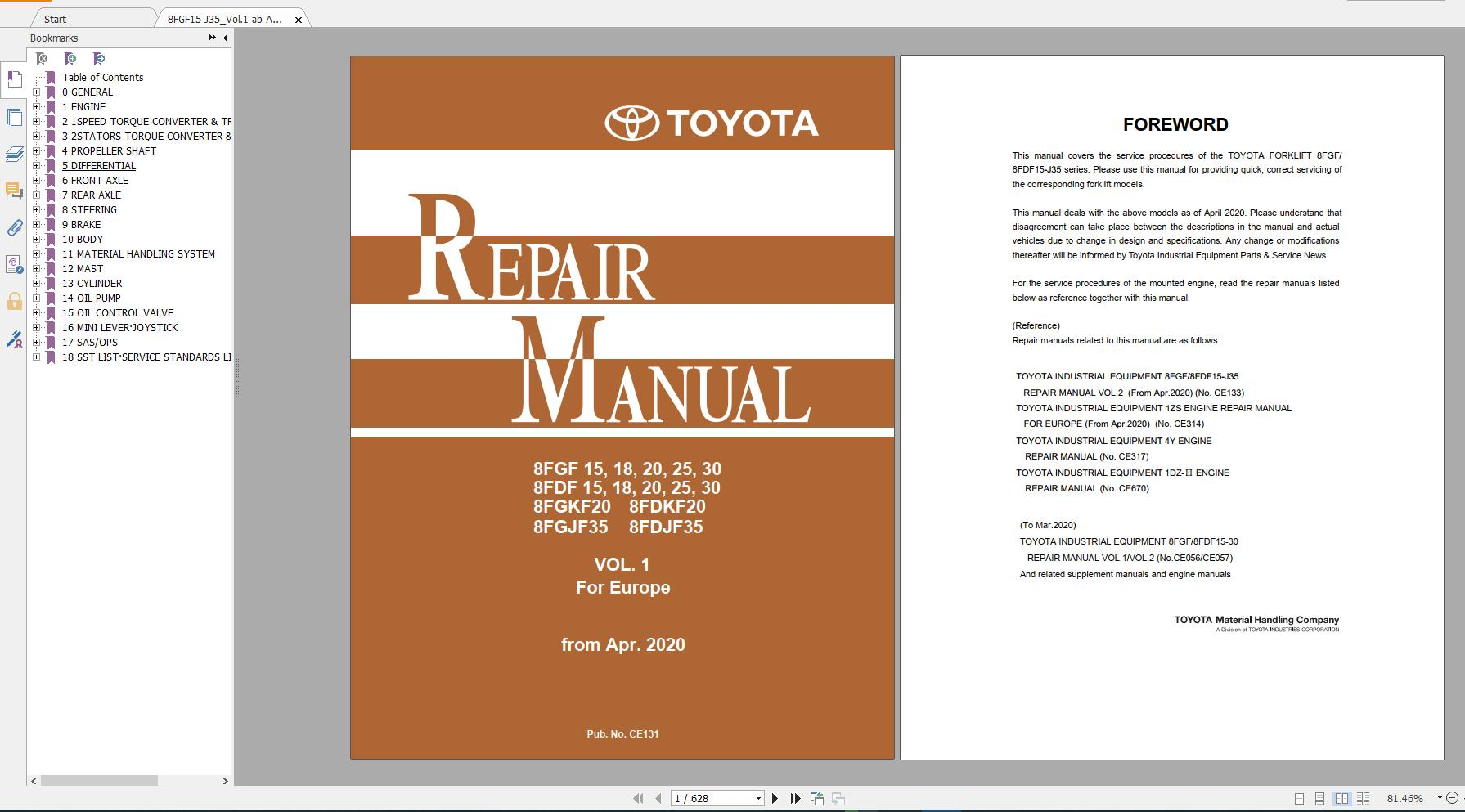 Bt Toyota Forklift 16gb Pdf English 2020 Service Manual  U0026 Part Manual Full Dvd