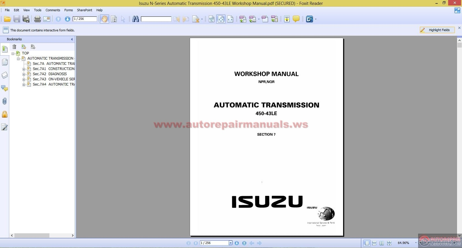 Automatic Transmission 450 43le Wiring Diagram Diy Enthusiasts Isuzu Panther Images Gallery
