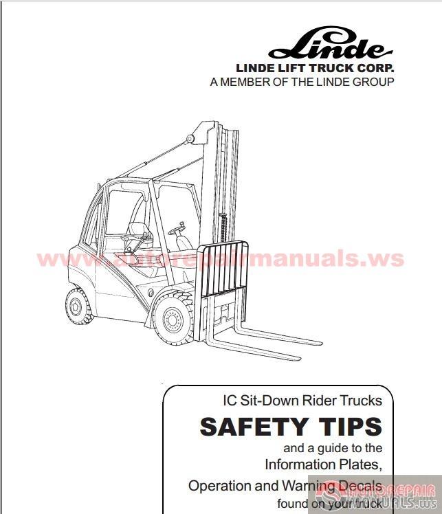 linde forklift truck 352 series h35 h40 h45 repair  linde h40 forklift  parts manual