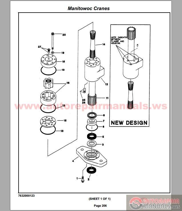 Manitowoc 4100w Parts manual