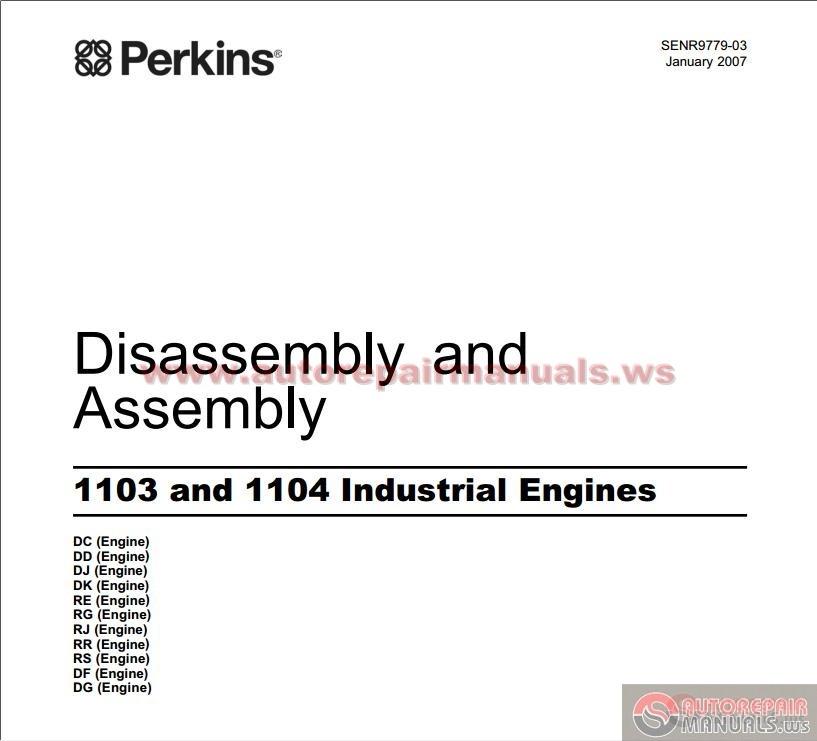 Perkins 1103 Parts manual