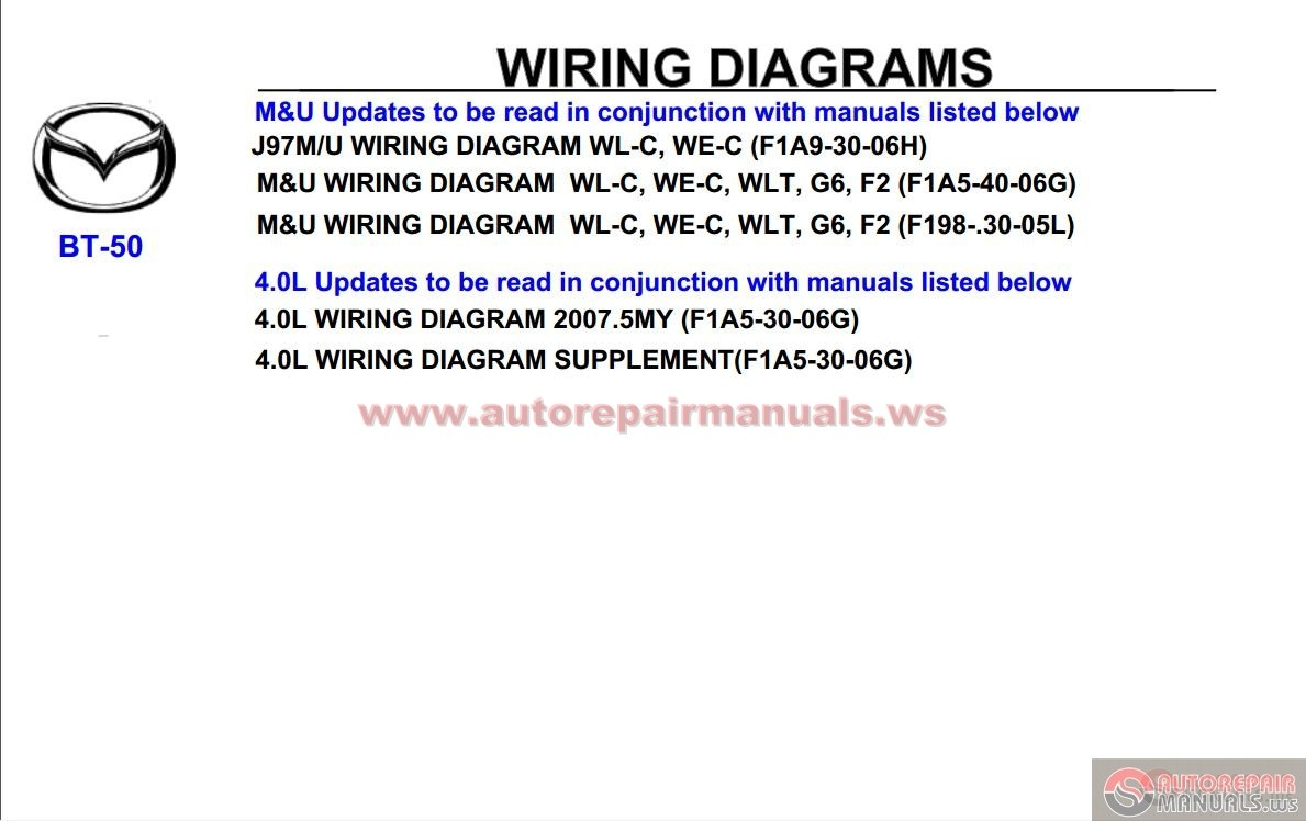 Mazda Bt 50 Fuse Box Layout 27 Wiring Diagram Images 2007 Workshop Repair Manual4 Manual Auto Forum