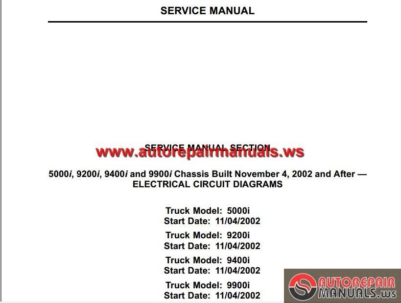 International 9400i Manual
