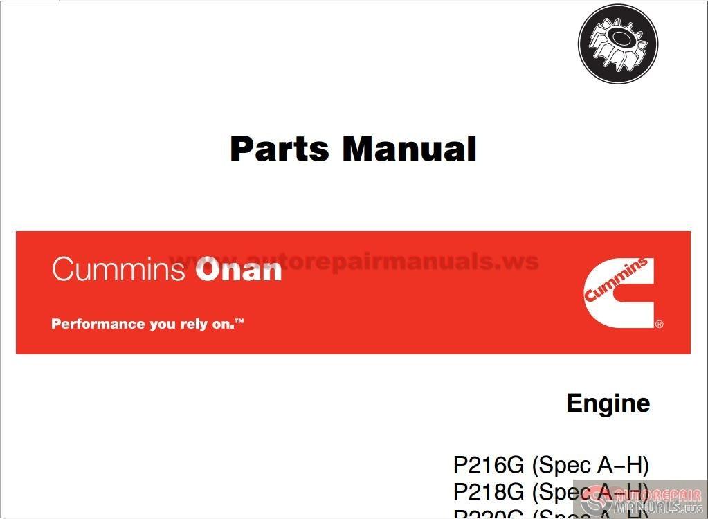 Onan 2800 Shop manual
