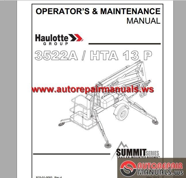 Haulotte Parts Manuales